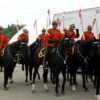 Calgary Stampede RCMP Musical Ride: Mounties getting ready to head out for their performance