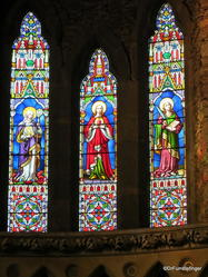 Dingle Town. An Diseart Center. Harry Clarke Windows