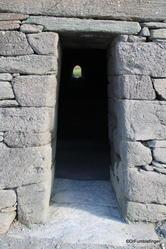 Entrance to the Gallarus Oratory, Dingle Peninsula, Ireland