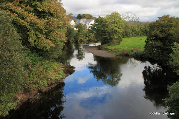 Town of Sneem. Upriver from bridge