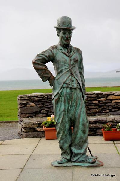 Waterville. Charlie Chaplin statue