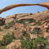 Landscape Arch, Arches National Park, Utah: The longest arch in the world measuring over 300 feet in length.