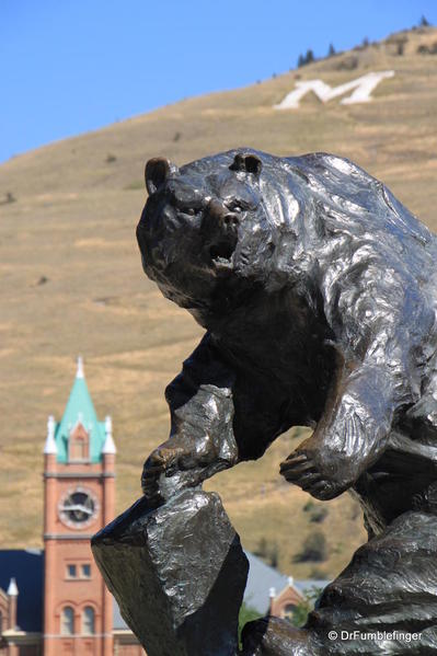 University of Montana, Missoula (and its grizzly mascot)