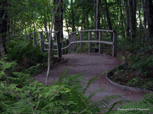 Footbridge in Rachel Carson refuge