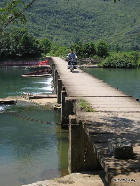 The bridge between village and fields.