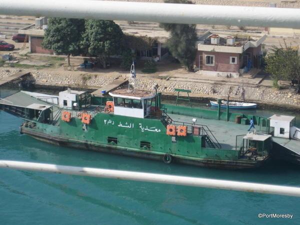 Car ferry, Suez Canal.