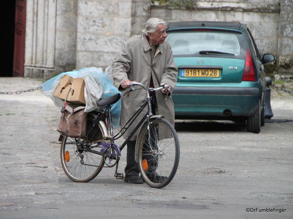 Man with Bike, Chartres, France #2