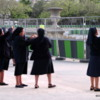 Nuns near Pl Joffre.  What are they photographing?  See next photo