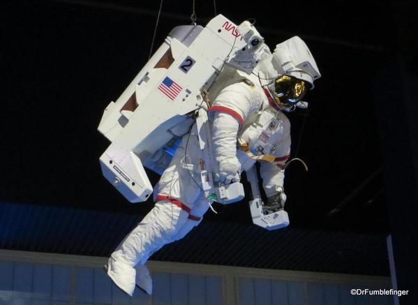 Kennedy Space Center, Florida. Atlantis Shuttle Display. Hubble telescope