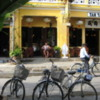 Cafes with a French flavor in restored buildings, Hoi An.