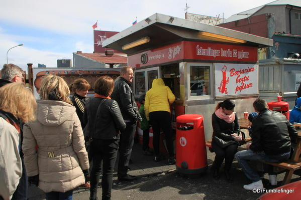 Reykjavik 05-2013-005 Downtown Reyijavik. Hot Dog stand