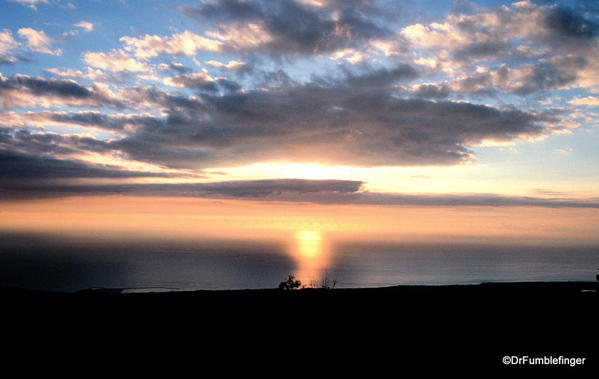 POD 012a Feb 18a, 2014 Sunset from Kohala, towards Maui