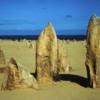 Nambung National Park, Western Austalia.  The Pinnacles in the a.m.