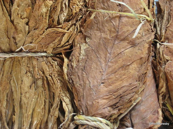 Locally grown tobacco.