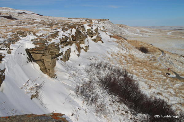 Head-Smashed-In-Buffalo Jump viewed from Top