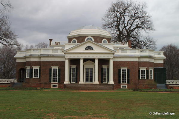 Back yard view of Monticello