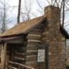 Restored cabin at Michie Tavern, Charlottesville, VA