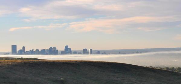 Calgary skies 09 Fog