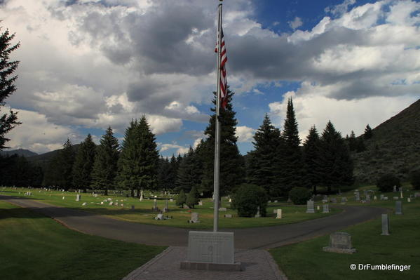 Ketchum Cemetery. A very peaceful setting