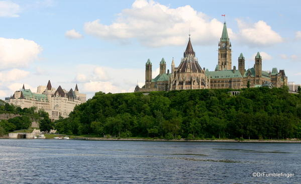 View of the Houses of Parliament and Chateau Laurier, Ottawa