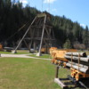 Wallace, Idaho -- Mining display at Visitor Center