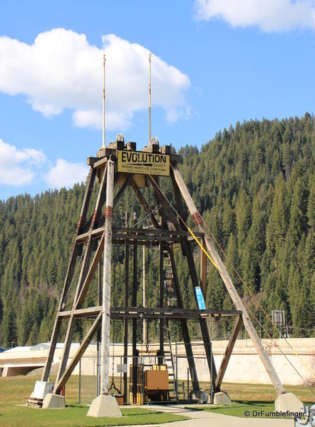Wallace, Idaho -- Mining display at Visitor Center