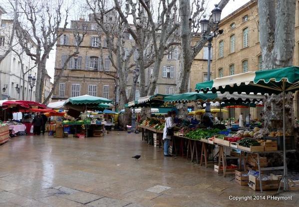 Rainy day market, Aix-en-Provence