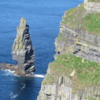 Cliffs of Moher. Branaunmore Rock just off O'Brien's Tower