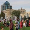 Gathering at Memorial park