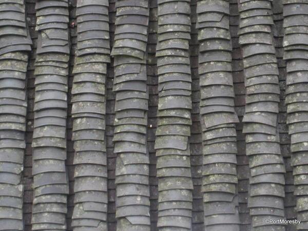 Roof tiles.