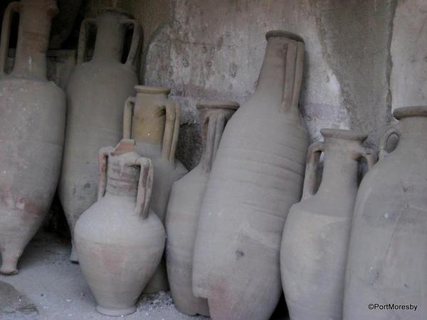 Roman pottery.