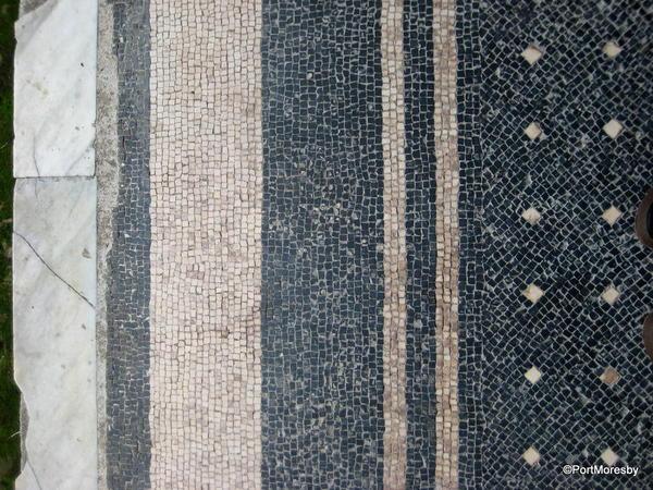 Mosaic floor, border.