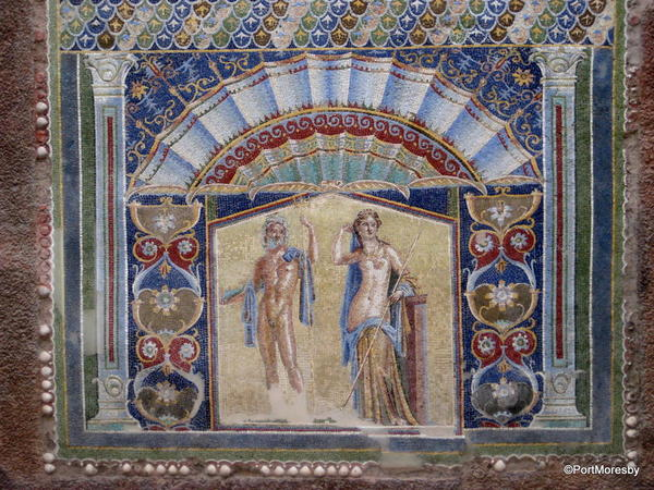 Domestic mosaic wall painting.