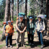 The DrFumblefinger family at the Ostrander Lake Trailhead