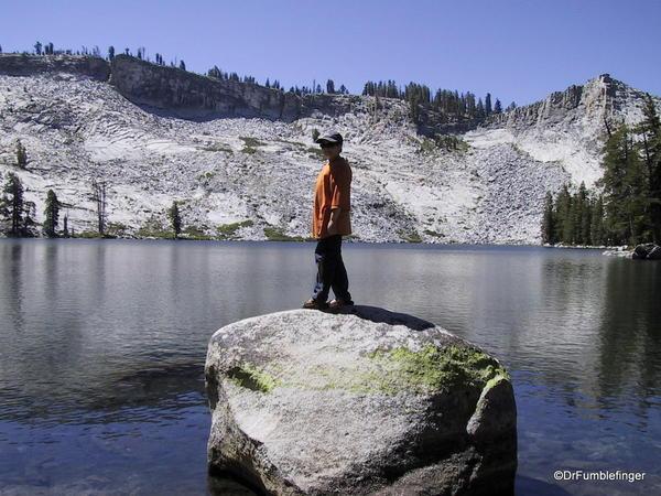My younger son at Ostrander Lake.