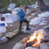 Campfire at Ostrander Lake.