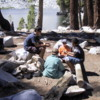 Kids entertaining themselves, Ostrander Lake