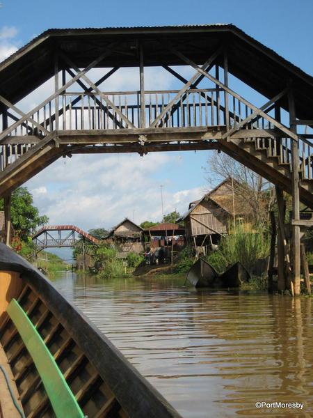 Bridge across a canal.
