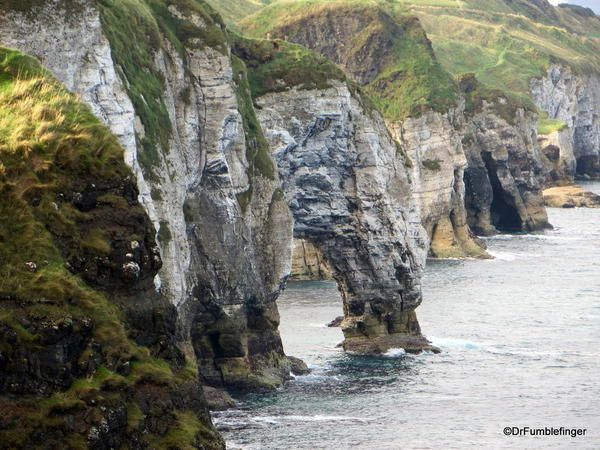 Antrim Coast. View west from Dunluce Castle