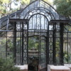 """Buenos Aires, Jardin Botanico.  Greenhouse: A  fascinating old greenhouse which, like most of the city, is in a state of """"elegant decay"""""""