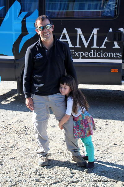 Our driver, Mariano and his adorable daughter in El Calafate