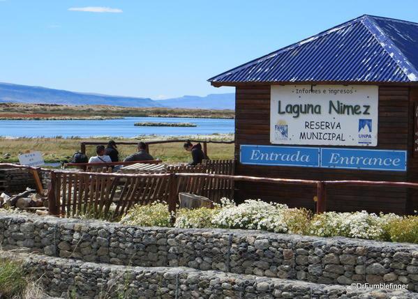 El Calafate, Argentina. Laguna Nimez Nature Preserve. Entrance