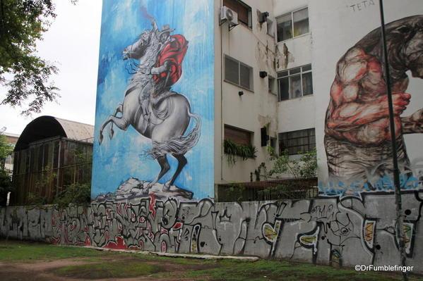 Street art in the Colegiales barrio.