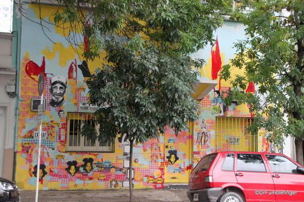 Stencil art in the Palermo Soho district.