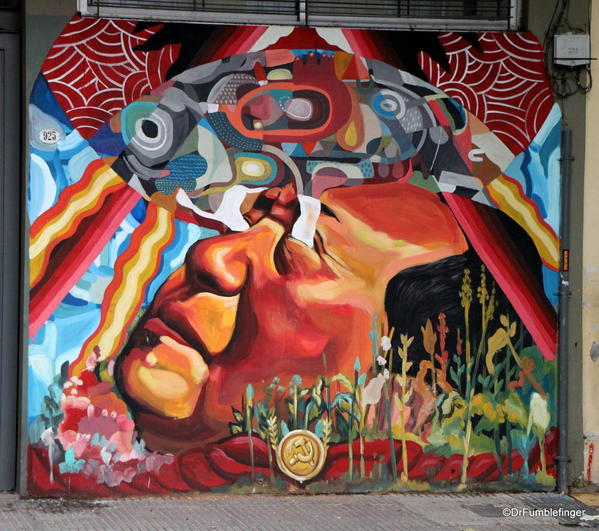 Street art in Villa Crespo. Painting by Ever