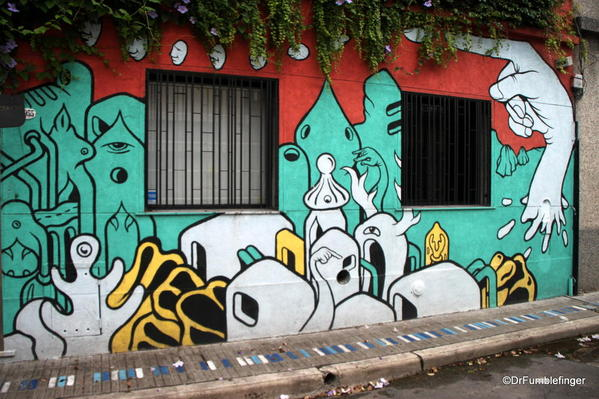 Street art in Palermo. Looks like something by Dr. Seuss