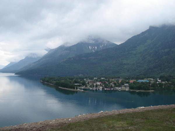Upper Waterton Lake and Waterton Townsite