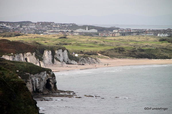 Portrush as seen from the White Park Bay Viewpoint
