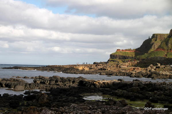 First view of the Giant's Causeway, approaching from Visitor Center
