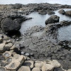 Walking on the Giant's Causeway: Two colors of lava in the basalt columns